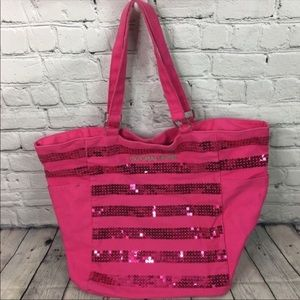 Victoria's secret pink Large sequence tote.